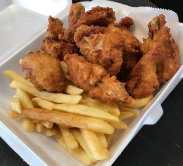 Spicy Wings w. Fries